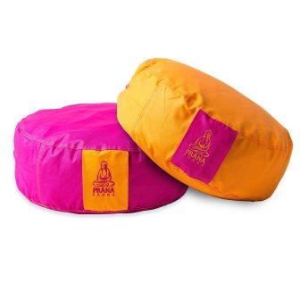 Pink + narancs kifordítható huzat kerek ülőpárnához