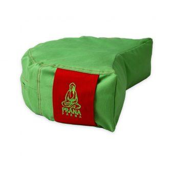 Zöld standard huzat piros füllel félhold ülőpárnához