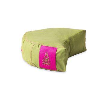 Pink-zöld kifordítható huzat félhold ülőpárnához