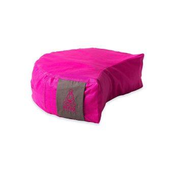 Pink + barna kifordítható huzat félhold ülőpárnához