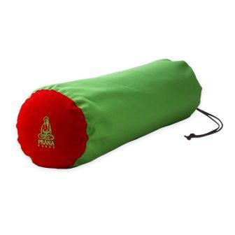Zöld - piros standard huzat jóga hengerhez