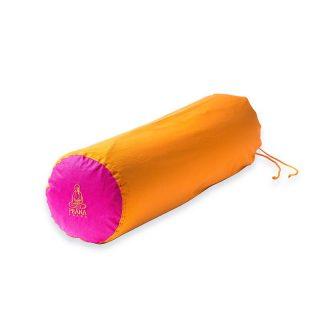 Pink + narancs kifordítható huzat jóga hengerhez
