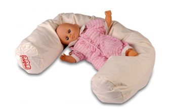 Köleshéj párna bébi henger 100x10 cm (újszülöttnek) + ajándék pamut huzat