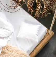 PRANA Pamut szatén fehér huzat 25x30 cm