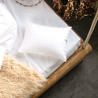 PRANA Pamut szatén fehér huzat 30x40 cm
