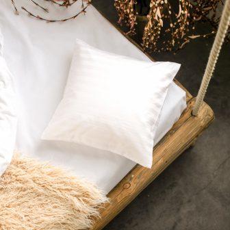 PRANA Pamut szatén fehér huzat 40x40 cm
