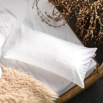 PRANA Pamut szatén fehér huzat 40x80 cm